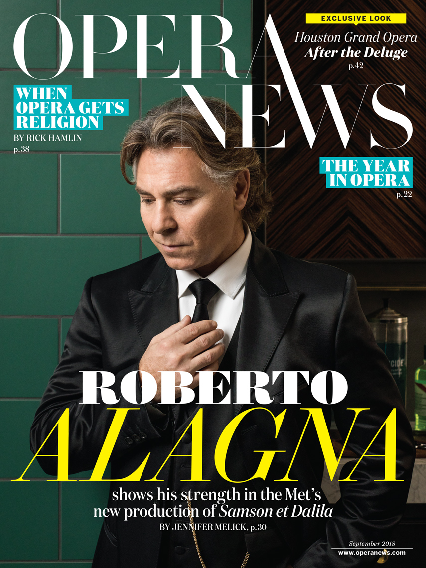 BALL & ALBANESE | Editorial portrait of Roberto Alagna for Opera News cover